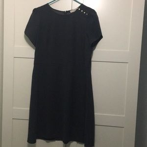Grey butterfly sleeve dress